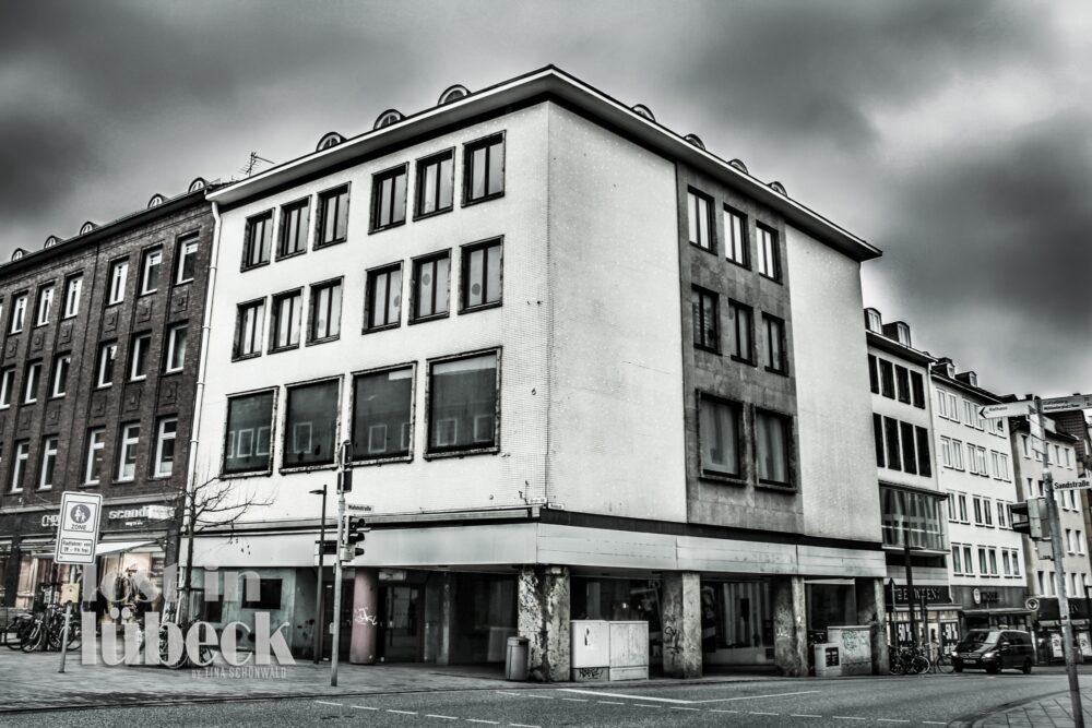 Wahmstrasse Lübeck Fussgängerzone Eckhaus