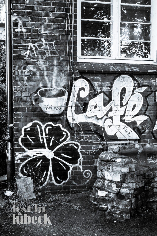 Willy Brandt Allee Lübeck Walli Graffiti Alternativzentrum, Lost in Lübeck