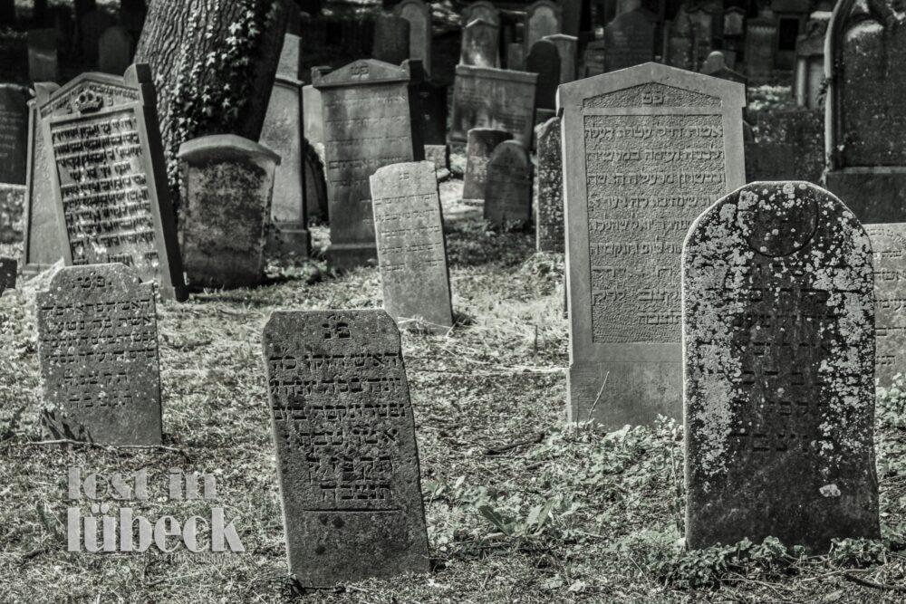 Niendorfer Strasse Lübeck Grabsteine auf dem jüdischen Friedhof