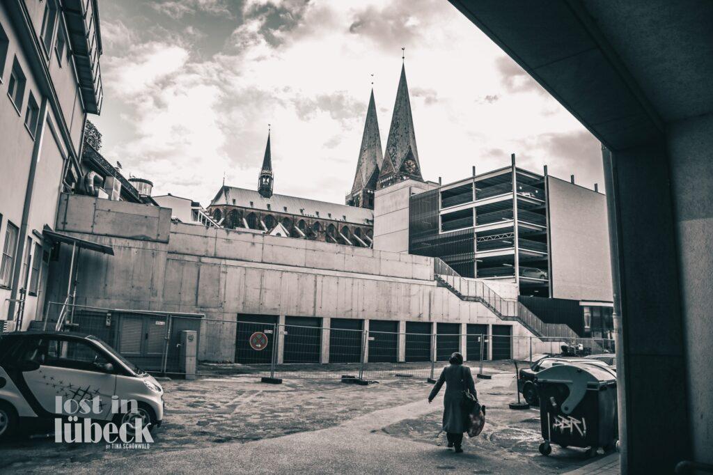 Wehdehof Hinterhof Lübeck Parkhaus Marienkirche