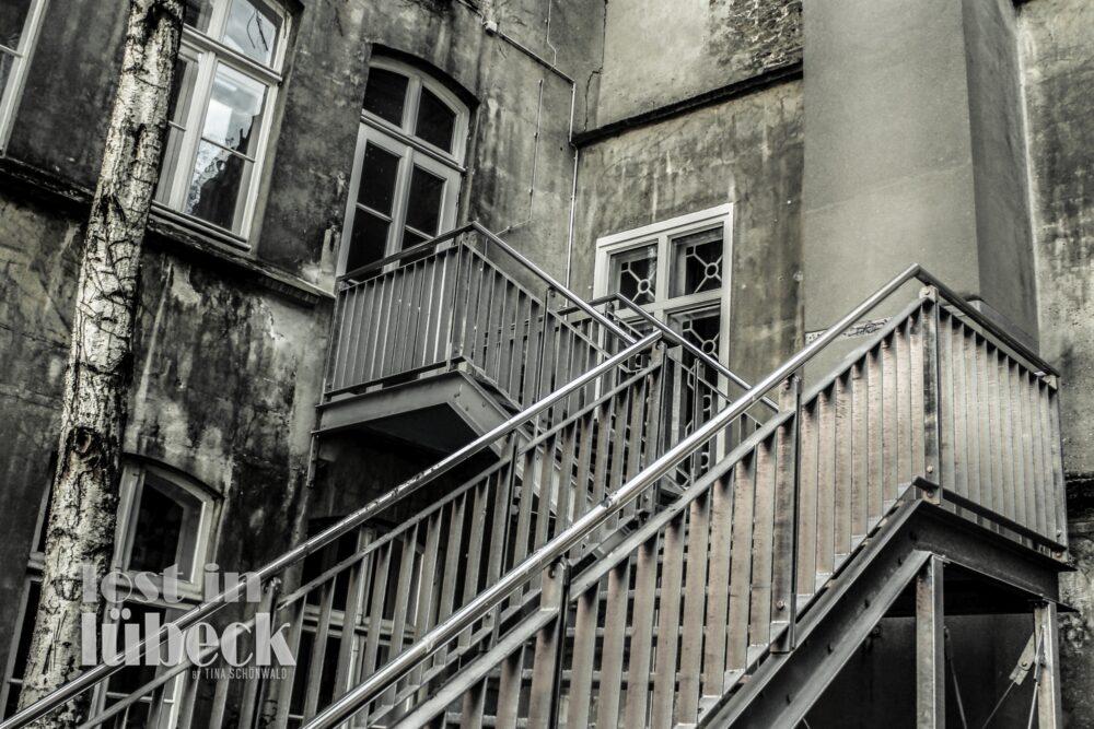 Schildstrasse Lübeck Treppenaufgang zum Kulturbüro
